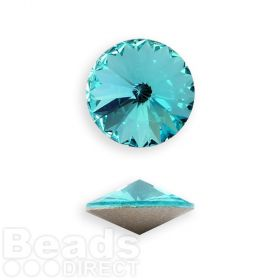 1122 Swarovski Crystal Rivoli 12mm Light Turquoise F Pk1