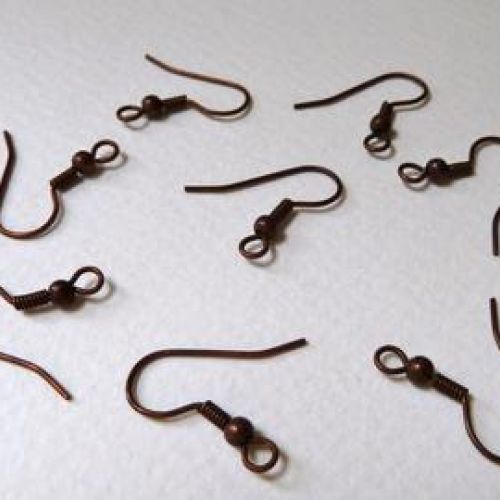 Antique Bronze Plated Earring Hooks 19mm x2 Pairs