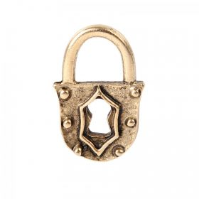 Nunn Design Antique Gold Small Padlock Charm 12x18mm Pk1