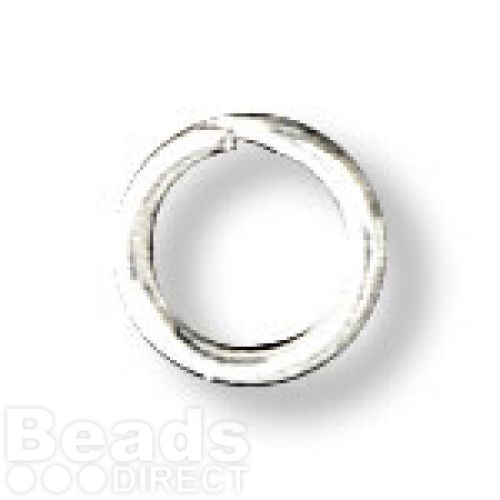 Silver Plated Split Rings 6mm Pk100