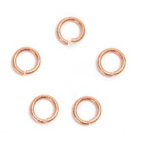 Rose Gold Plated 13mm Large Jump Rings 2mm Thick Pk5