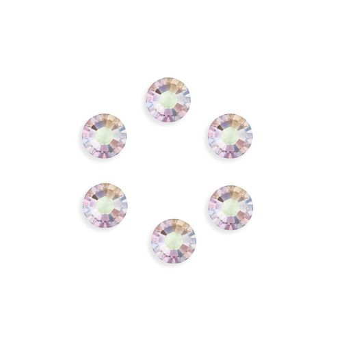 2088 Swarovski Crystal Flat Backs SS34 7mm Crystal AB F Pk6