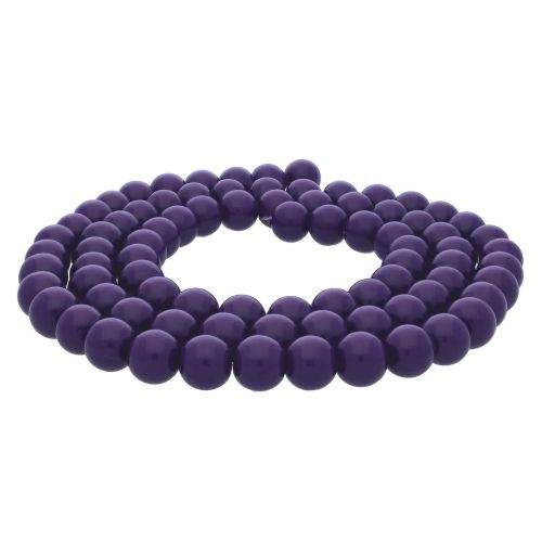 Milly™ / round / 8mm / violet / 100pcs