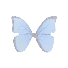 Butterfly wings / organza / 38x48mm / blue / 4pcs