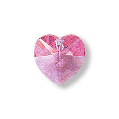 6228 Swarovski Crystal Hearts 10mm Rose Pk2