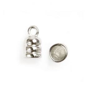 Titanium Plated Cord Ends 6mm Pk2