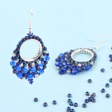Majestic Blue Window Earrings