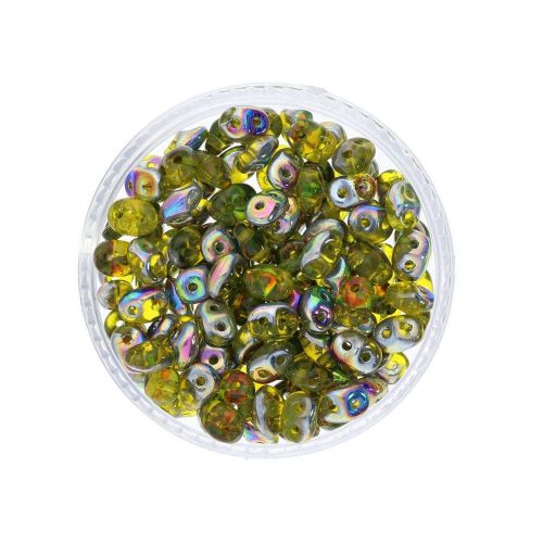 SuperDuo™ / glass beads / 2.5x5mm / Vitral / Jonquil / 10g / ~140pcs