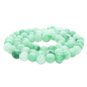 Agate / faceted round / 6mm / green / 60pcs