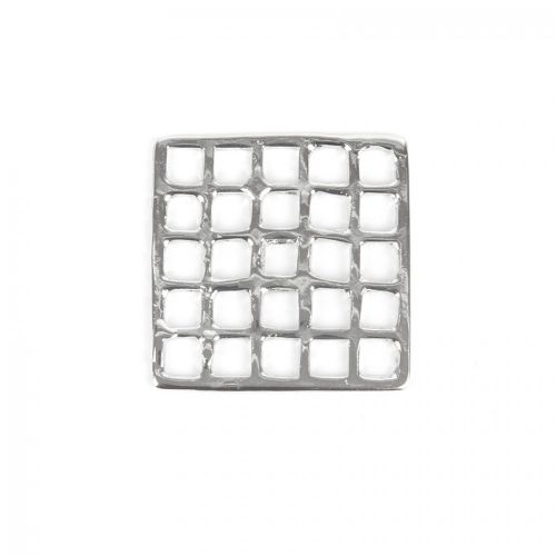 Titanium Plated Square Grid Connector/Charm 30mm Pk1