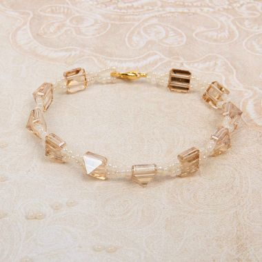 Golden Ivory Spike Bracelet