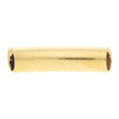 Curved tube bead / surgical steel / 30mm / hole 1.5mm / gold / 1pcs