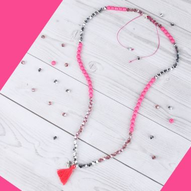 Flamingo Pink Necklace