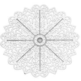 Snowflake / pendant filigree / surgical steel / 35x35mm / silver / 1pcs