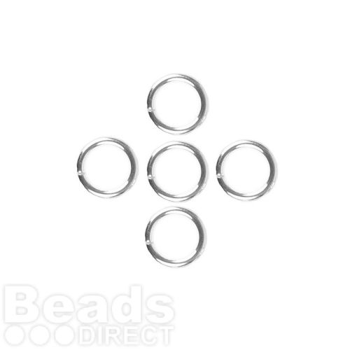 Sterling Silver 925 Soldered Rings 0.8x8mm Pk5