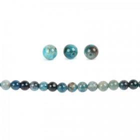 Blue Apatite Semi Precious Round Beads 6mm Pk20