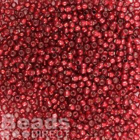 Toho Size 11 Round Seed Beads Silver-Lined Milky Pomegranate 10g