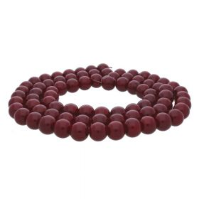 Milly™ / round / 8mm / burgundy / 100pcs