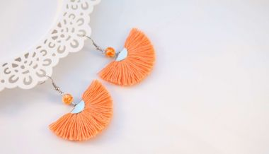 How to make tassels - fashionable boho style earrings