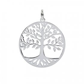 Sterling Silver 925 Tree of Life Charm with Ring 20mm Pk1