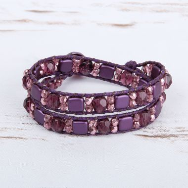 'Bordeaux' WrapIt Loom Bracelet