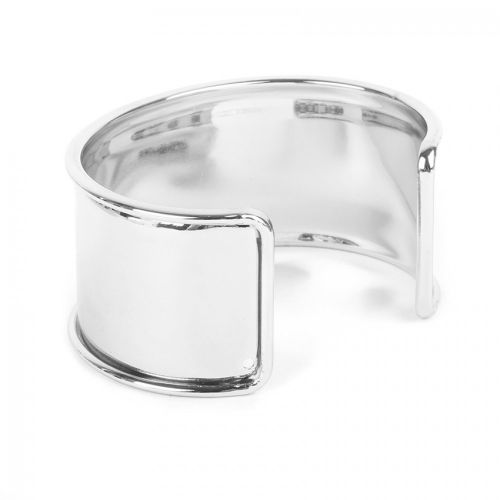 Rhodium Plated Bangle Base 73x55mm Space for Cord Diameter-167mm Pk1