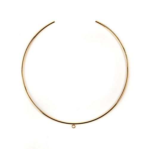 Gold Plated Choker Base with Centre Loop 2mmx130mm Pk1