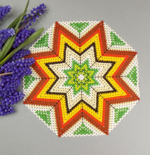 How to make a beaded table mat – a bead weaving step by step tutorial
