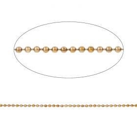Gold Plated Diamond Cut Ball Chain 2mm with x10 Clasps 1metres