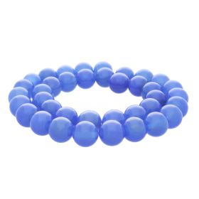 Chalcedony / round / 4mm / light blue / 95pcs