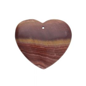 Brown jasper / pendant / heart / 41x46x6mm / 1pcs