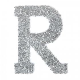 Swarovski Crystal Letter 'R' Self-Adhesive Fabric-It Transparent CAL Pk1