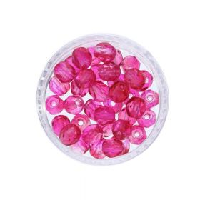 Firepolish ™ / 4mm / Coated / Hot Cranberry / 40pcs