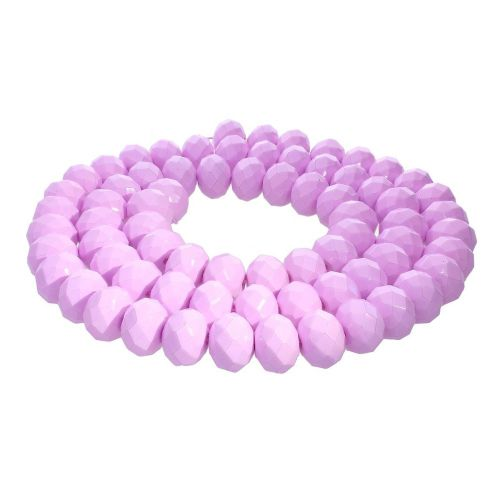 Milly™ / rondelle / 8x10mm / lilac / 70pcs