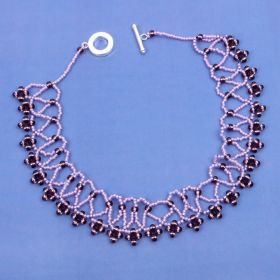 Beads Direct Ultra Violet Netted Collar Kit - Makes x2