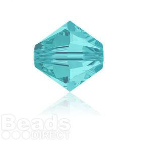 5328 Swarovski Crystal Bicones 6mm Light Turquoise Pk360