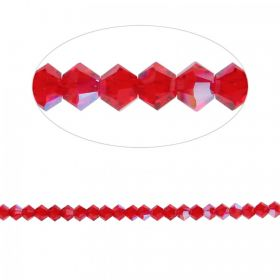 5328 Swarovski Crystal Bicone Beads 3mm Light Siam Shimmer Pk24