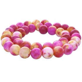 Jade / round / 10mm / multi coloured / 40pcs
