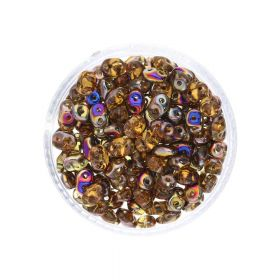 SuperDuo™ / glass beads / 2.5x5mm / Sliperit / Topaz / 10g / ~140pcs