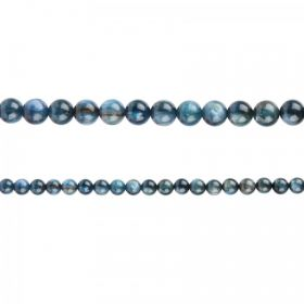 "Blue Kyanite Semi Precious Round Beads 4mm 15"" Strand"