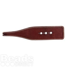 Brown Leather Bracelet Base 3 Adjustable Holes 14.7cm