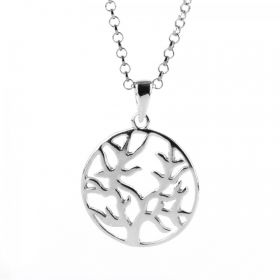 RTW Sterling Silver 925 Tree of Life Necklace - Adjustable