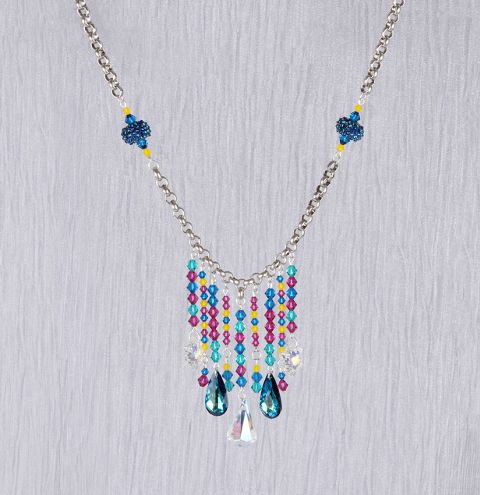 Rainbow Waterfall Necklace | New Swarovski Innovations