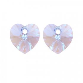 6228 Swarovski Crystal Heart Pendant 10mm Light Sapphire Shimmer Pack of 2