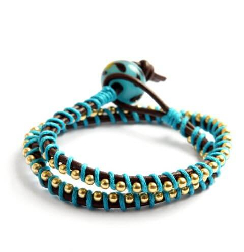 How to make a leather wrap bracelet - jewellery making tutorial