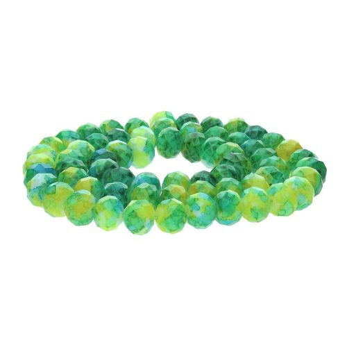 Candy™ / rondelle / 8x10mm / green-yellow / 84pcs