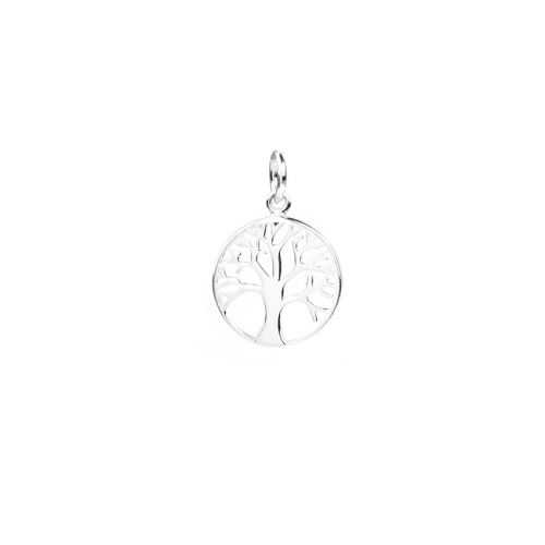 X Sterling Silver 925 Small Tree of Life Coin Charm 12mm Pk1