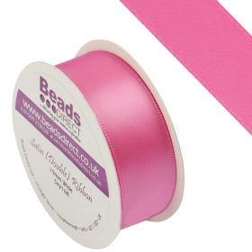 X-Hot Pink Double Satin Ribbon 19mm Sold on a 5 Metre Reel
