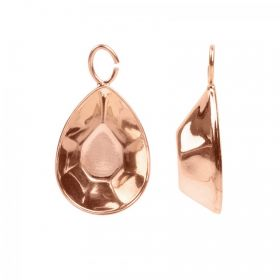 Rose Gold Plated Pendant Charm Setting Swarovski 4320 18x13mm