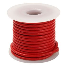 Red Round Leather 3mm Cord 5 Metres